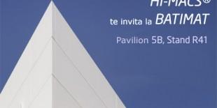 Expozitia internationala de cladiri BATIMAT va avea loc pentru prima oara la Villepinte Exhibition Centre intre 4 si 8 noiembrie. O referinta legitima in industria constructiilor, aceasta expozitie evidentiaza numeroase provocari in constructii si ne ofera posibilitatea sa prezentam fatadele inovative din HI-MACS®.  In ultimii ani, HI-MACS® a demonstrat ca cele mai inovative sau originale idei pot fi aduse la viata.[…] Mai mult…