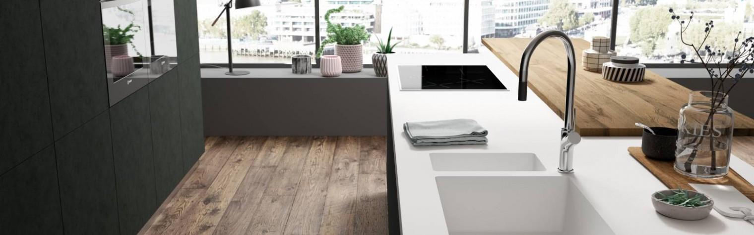 Funcționalitate perfectă și design elegant pentru bucătării, băi și domeniul medical.  După mai mult de 25 de ani de experiență pe piața compozitelor LG Hausys lansează noi colecții Hi-Macs: noile chiuvete de bucătărie și lavoare de baie sunt realizate printr-un proces de turnare de înaltă tehnologie ce asigură cea mai bună calitate a produsului.  Noua colecție de chiuvete de bucătărie și lavoare[…] Mai mult…